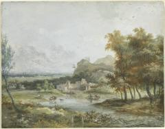 Image for Italian Landscape with a Boating Party