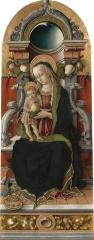 Image for Madonna and Child Enthroned with Donor