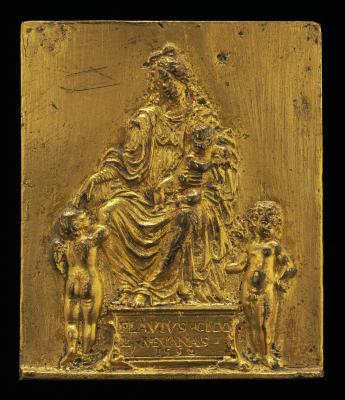 Image for Madonna and Child Enthroned with Two Angels