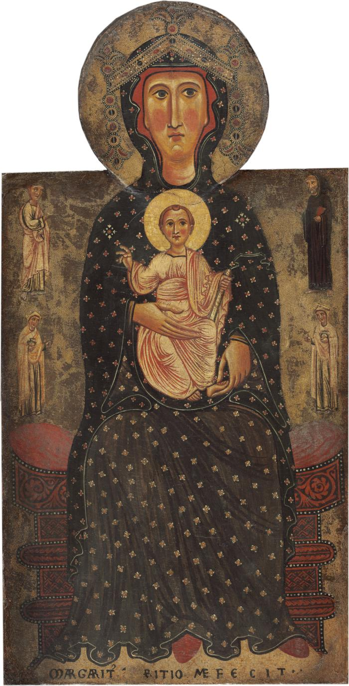 Image for Madonna and Child Enthroned with Four Saints