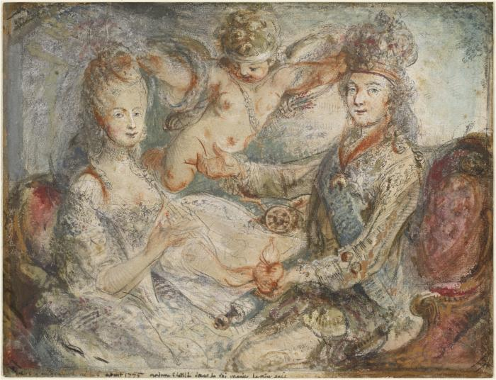 Image for Louis XVI and Marie-Antoinette Crowned by Love