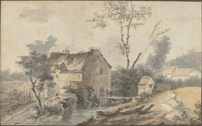Image for Mill with Bridge and Figures