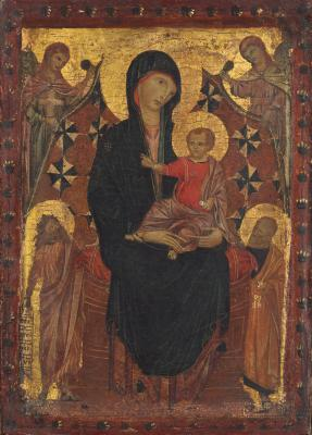 Image for Madonna and Child with Saint John the Baptist, Saint Peter, and Two Angels
