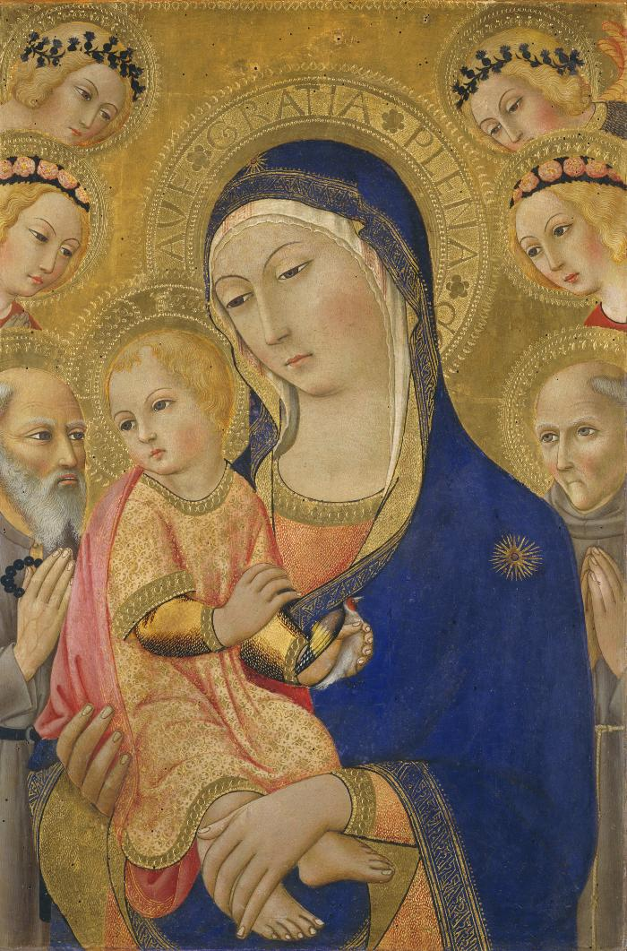 Image for Madonna and Child with Saint Jerome, Saint Bernardino, and Angels