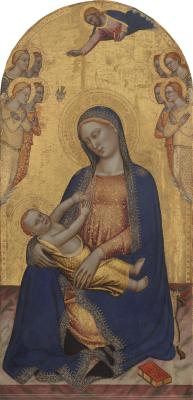 Image for Madonna and Child with God the Father Blessing and Angels