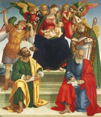Image for Madonna and Child with Saints and Angels