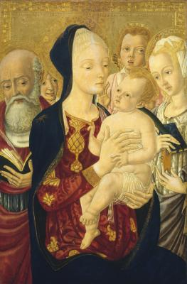 Image for Madonna and Child with Saint Jerome, Saint Catherine of Alexandria, and Angels