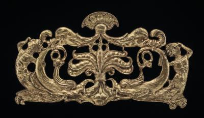 Image for Ornamental appliqué with tritons, dolphins, and seed-pods