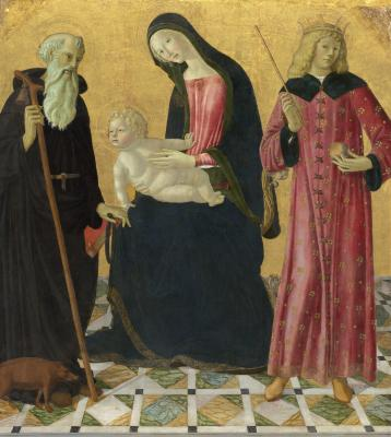Image for Madonna and Child with Saint Anthony Abbot and Saint Sigismund