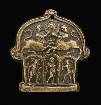 Image for Part of a Sword Pommel (Centaur Supporting Medallion; Venus Flanked by Mars and Hercules)
