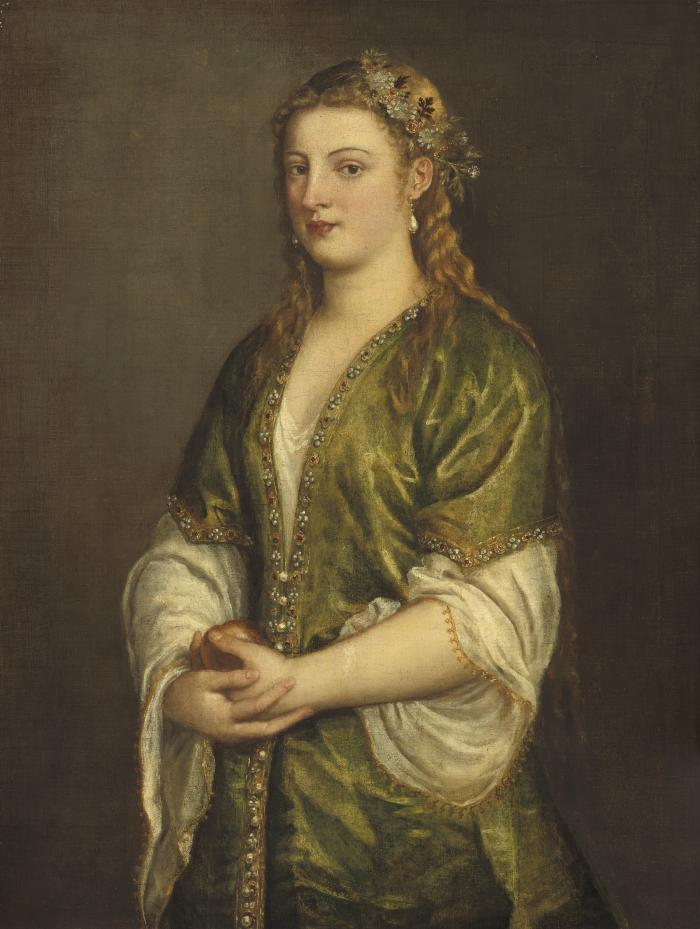 Image for Woman Holding an Apple