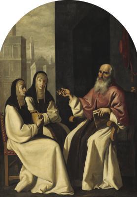 Image for Saint Jerome with Saint Paula and Saint Eustochium