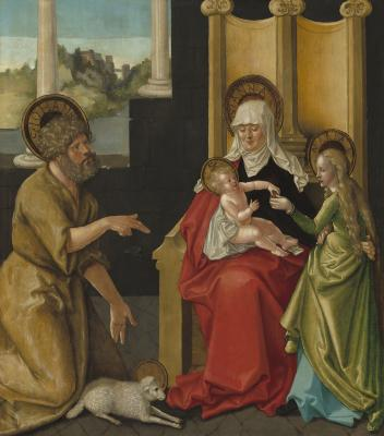 Image for Saint Anne with the Christ Child, the Virgin, and Saint John the Baptist