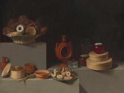 Image for Still Life with Sweets and Pottery