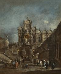 Image for Temporary Tribune in the Campo San Zanipolo, Venice