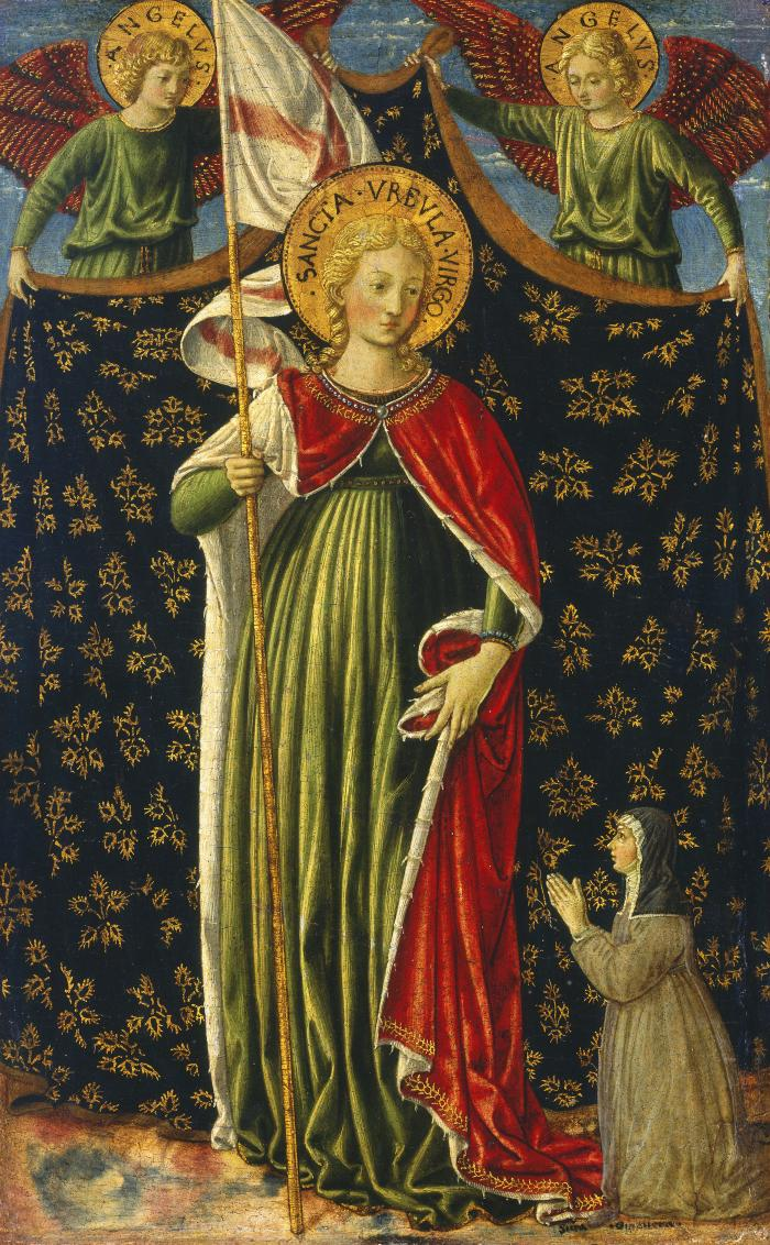Image for Saint Ursula with Two Angels and Donor