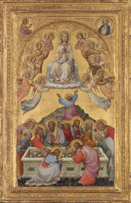 Image for The Assumption of the Virgin with Busts of the Archangel Gabriel and the Virgin of the Annunciation